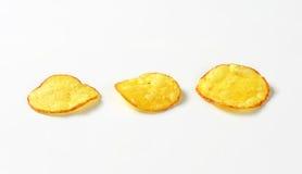 Tres patatas fritas fotos de archivo