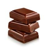 Tres pedazos oscuros del chocolate libre illustration