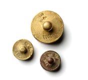 Tres pequeños pesos Foto de archivo