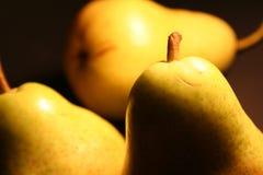 Tres peras del placer Foto de archivo