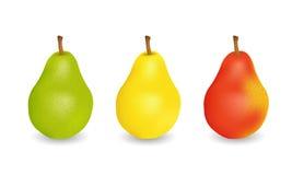 Tres peras jugosas deliciosas Fotografía de archivo libre de regalías