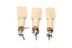 Tres petardos en blanco Fotografía de archivo libre de regalías