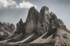 Tres picos de Lavaredo Imágenes de archivo libres de regalías