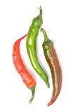 Tres pimientas de chile fotografía de archivo libre de regalías