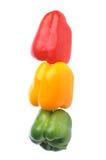Tres pimientas tienen gusto del semáforo fotografía de archivo