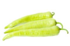 Tres pimientas verdes Fotografía de archivo libre de regalías
