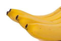 Tres plátanos aislados en el fondo blanco Fotos de archivo