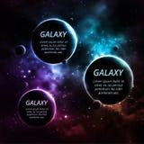 Tres planetas stock de ilustración