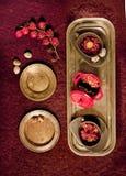 Tres platos Fotografía de archivo libre de regalías