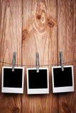 Tres polaroides Imagen de archivo libre de regalías