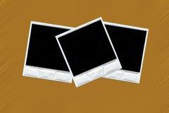 Tres polaroides Imágenes de archivo libres de regalías