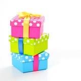 Tres presentes Imagen de archivo libre de regalías