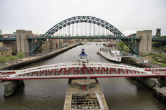 Tres puentes de Tyne Foto de archivo
