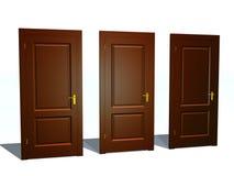 Tres puertas stock de ilustración