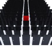Tres puertas rojas Imágenes de archivo libres de regalías