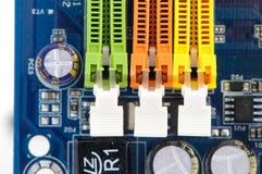 Tres ranuras del RAM SIMM Imágenes de archivo libres de regalías