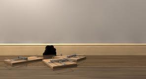 Tres ratoneras fuera de un agujero Imagen de archivo libre de regalías