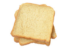 Tres rebanadas del pan fresco Fotografía de archivo libre de regalías