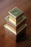 Tres rectángulos de regalo Imagen de archivo libre de regalías