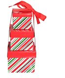 Tres rectángulos de regalo con la cinta Fotografía de archivo