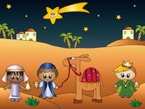 Tres reyes stock de ilustración