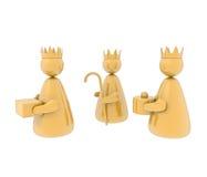 Tres reyes, aislados Imagen de archivo libre de regalías