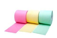 Tres rodillos de papel higiénico Fotografía de archivo