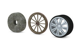 Tres ruedas ilustración del vector