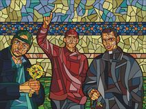 Tres sacerdotes jovenes Fotografía de archivo libre de regalías