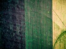 Tres secciones coloridas de campo en campo Fotografía de archivo