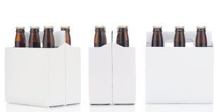 Tres seis paquetes de cerveza Foto de archivo