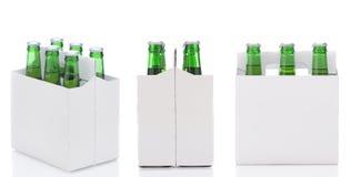 Tres seis paquetes de cerveza Imagenes de archivo