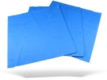 Tres servilletas de papel azules Imagen de archivo