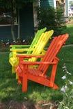 Tres sillas de césped Imagen de archivo libre de regalías