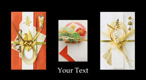 Tres sobres festivos japoneses Imagen de archivo libre de regalías