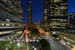 Tres. Street Los Angeles by night Stock Image