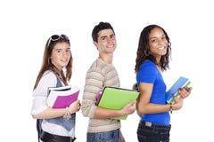 Tres studens adolescentes Foto de archivo libre de regalías
