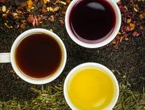 Tres tés Fotos de archivo libres de regalías