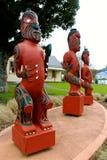 Tres tallas maoríes Nueva Zelanda fotos de archivo