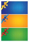 Tres tarjetas coloridas libre illustration