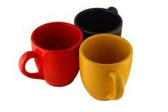 Tres tazas Imágenes de archivo libres de regalías