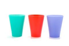 Tres tazas coloreadas de la limonada Imagen de archivo libre de regalías