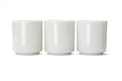 Tres tazas de té chinas de la porcelana Imagen de archivo