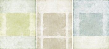 Tres texturas encantadoras del fondo Imagenes de archivo