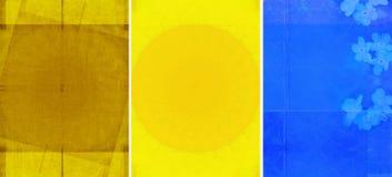 Tres texturas encantadoras del fondo Imagen de archivo
