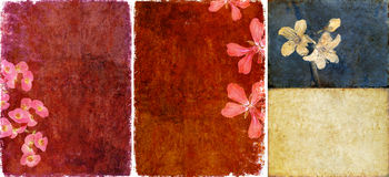 Tres texturas encantadoras del fondo Imagen de archivo libre de regalías