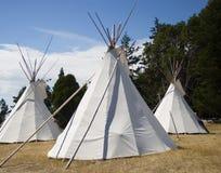 Tres tiendas de los indios norteamericanos Imagen de archivo