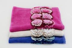 Tres toallas Fotografía de archivo libre de regalías