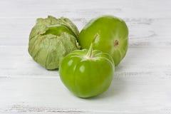 Tres Tomatillos Imagen de archivo libre de regalías