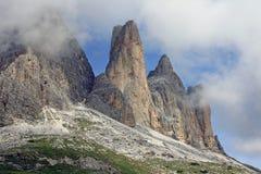 Tres torres de la roca Imagen de archivo libre de regalías